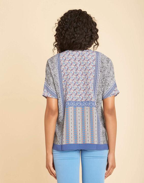 Romy blue printed blouse (4) - 1-2-3