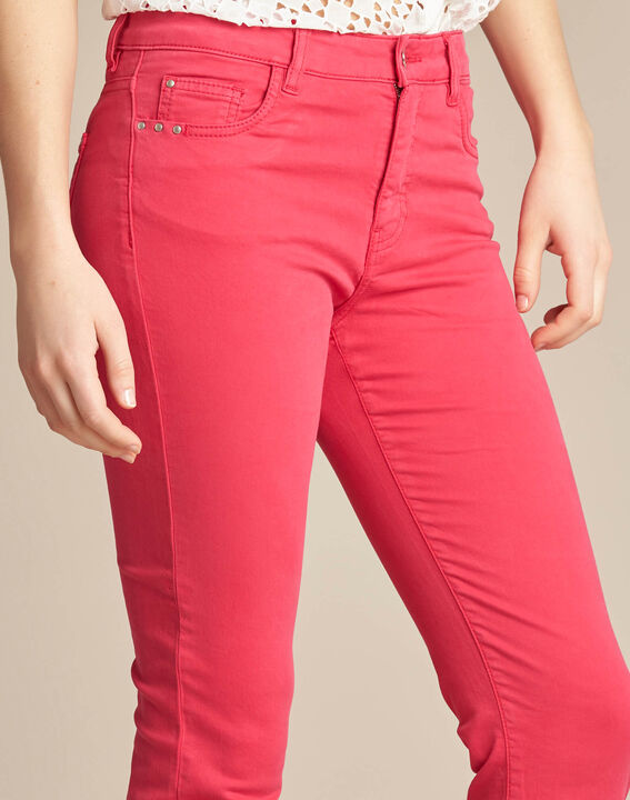 Fuchsienrote Slim-Fit-Jeans normale Leibhöhe Vendome PhotoZ | 1-2-3