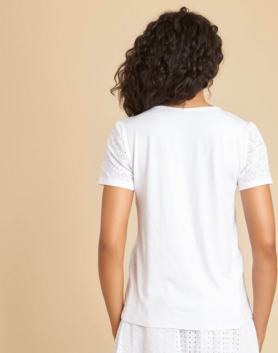 Gdansk white T-shirt with embroidery (4) - 1-2-3
