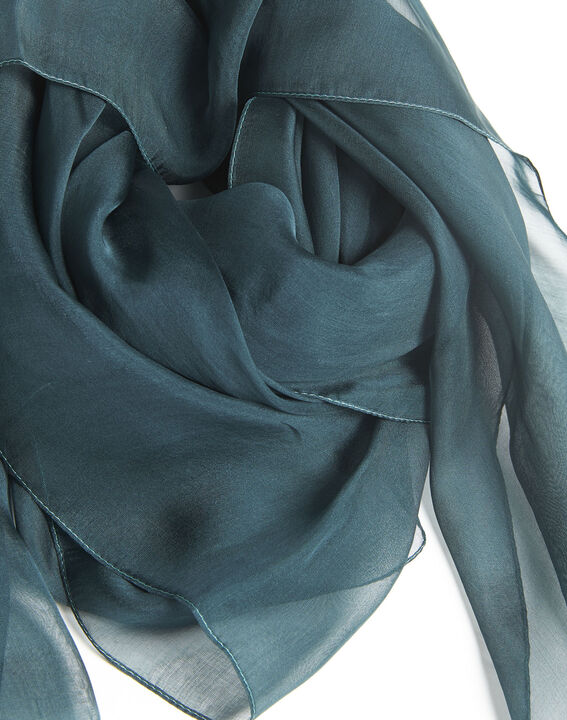 Alice green silk scarf (2) - 1-2-3