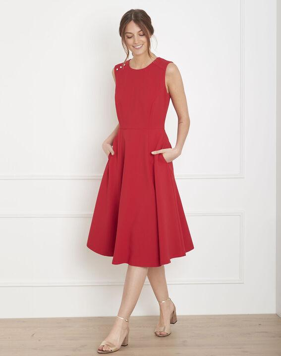 Rotes, ausgestelltes Kleid Hacena (2) - Maison 123