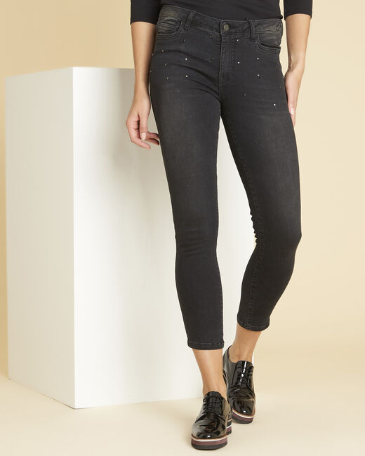 Vendôme dark grey jeans with studded detailing (1) - 1-2-3