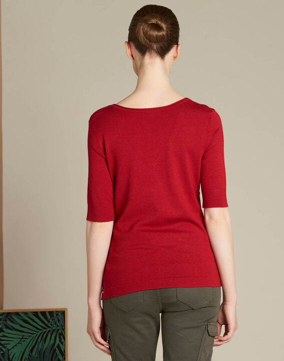 Novette red sweater with golden press-studs (4) - 1-2-3