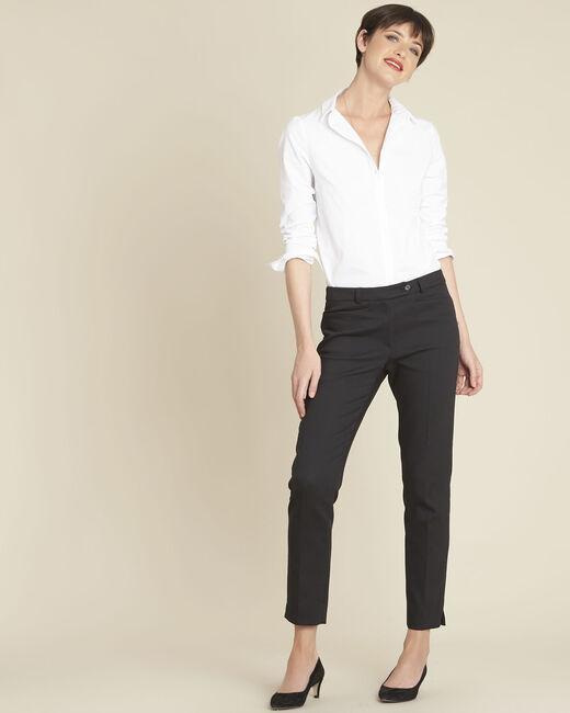 Valero black compact cigarette-cut trousers (1) - 1-2-3