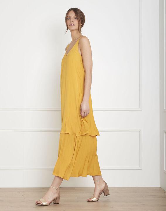 Robe jaune à étages Henriette PhotoZ | 1-2-3