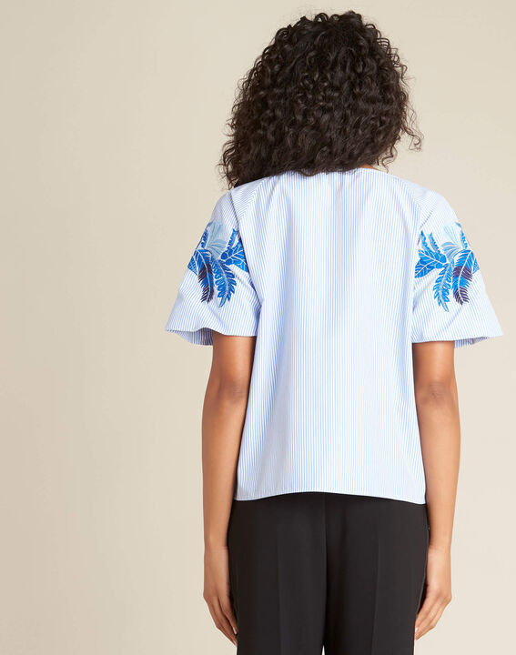 Grace blue embroidered blouse (4) - 1-2-3