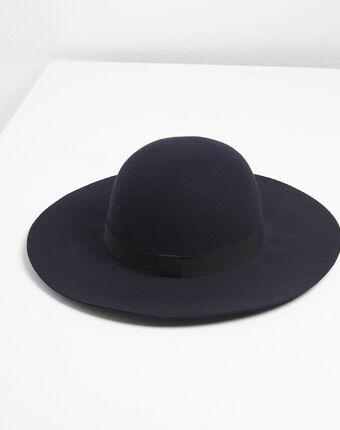 Chapeau en laine bleu marine uriel marine.