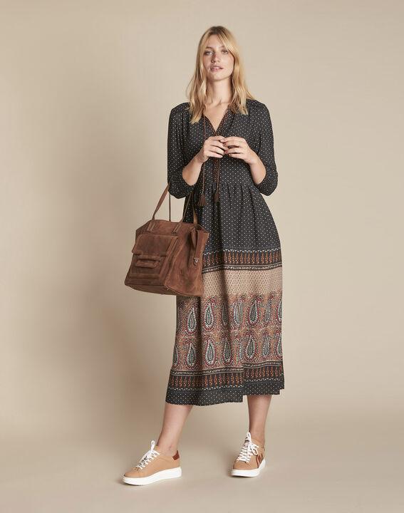 Robe longue imprimé cachemire Illiade PhotoZ | 1-2-3