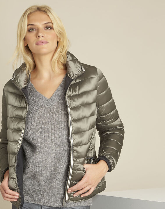 Pepite short iridescent taupe down jacket (1) - 1-2-3