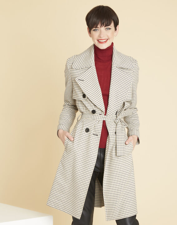 Emeline camel check coat PhotoZ | 1-2-3