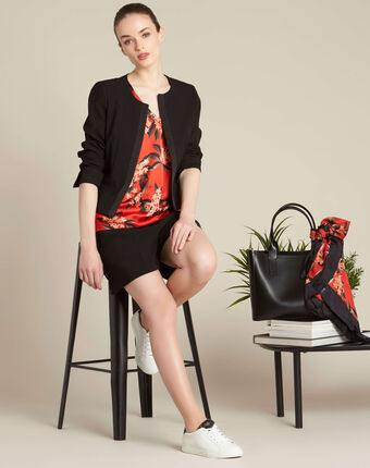 Romy red blouse with a floral print red.