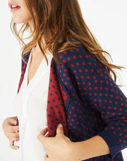 Parade blue knitted jacket with polka dots (2) - 1-2-3