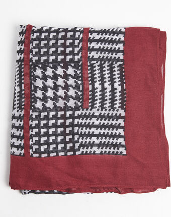 Fantastique red and black scarf red.