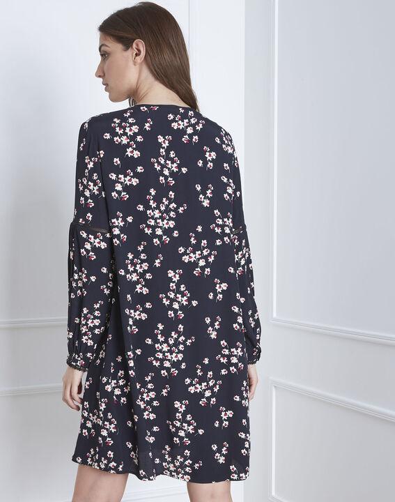 Robe noire imprimé fleuri Lava (4) - Maison 123