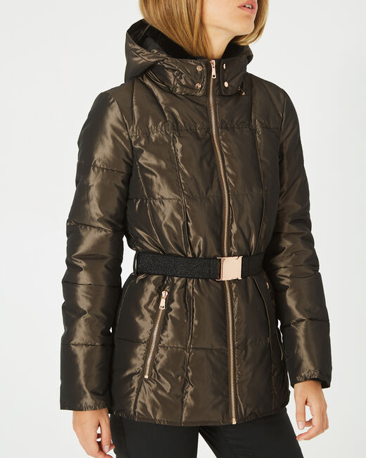 Livia bis mid-length khaki puffer jacket (1) - 1-2-3