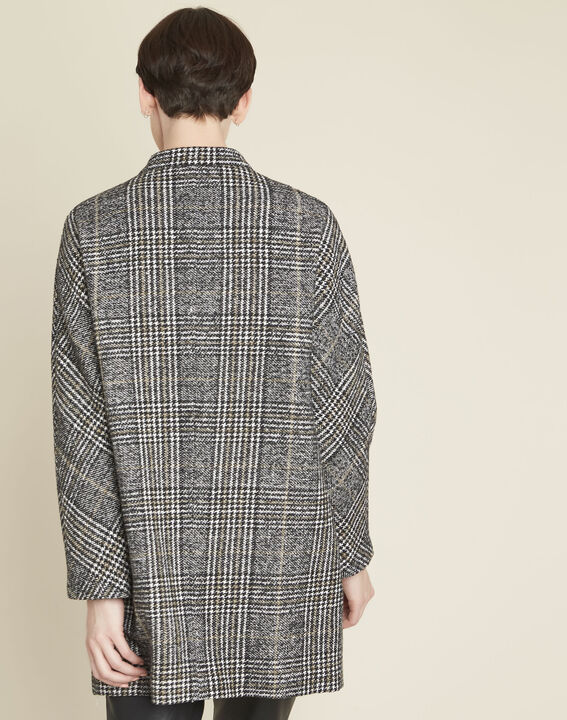 Elora checked coat with contrasting buttons (4) - 1-2-3