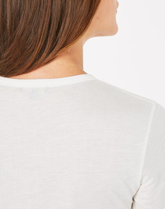 Tee-shirt imprimé en modal Bouche (4) - 1-2-3