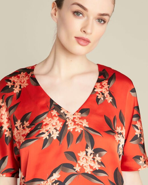 Romy red blouse with a floral print (2) - 1-2-3