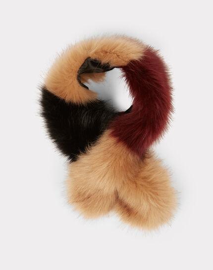 Col tricolore en fausse fourrure Ephira (2) - 1-2-3