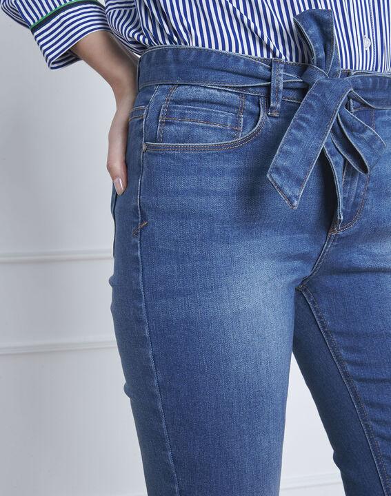 Ausgestellte indigo Jeans mit Gürtel Coralie (3) - Maison 123