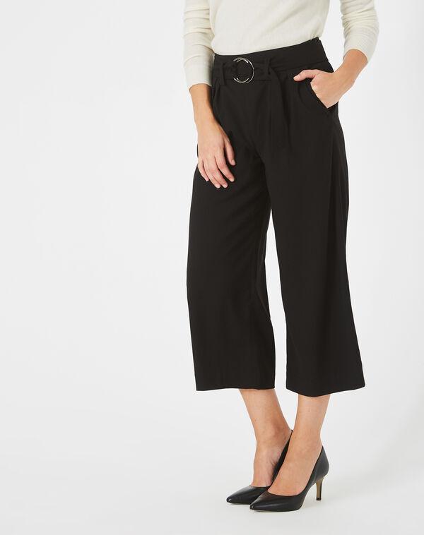 Pantalon noir cropped kris à