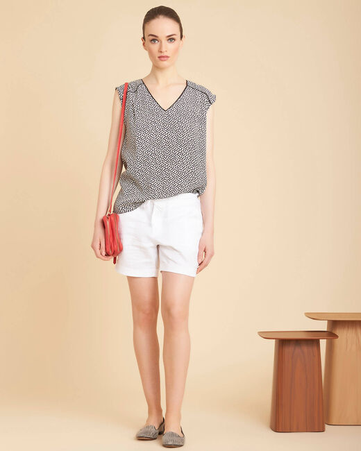 Citron white linen shorts (1) - 1-2-3