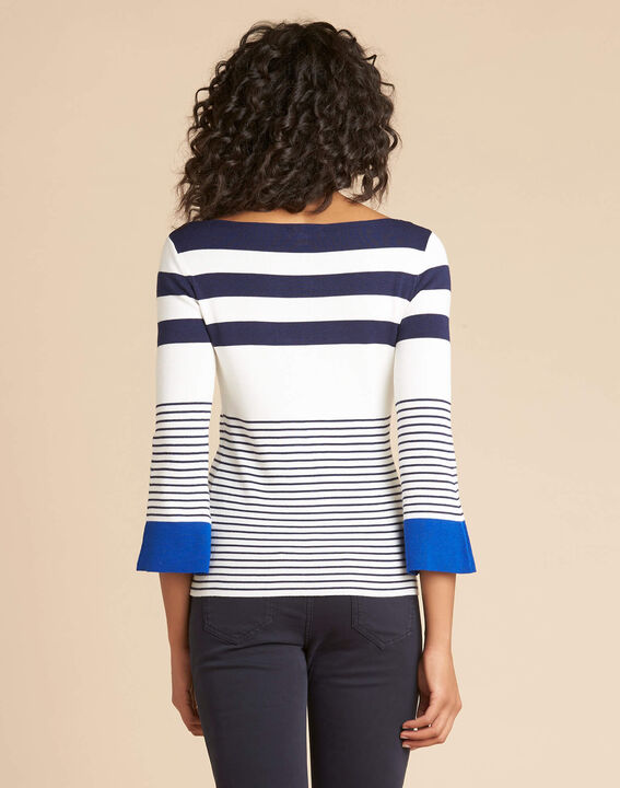 Pins blue wide-striped sweater (4) - 1-2-3