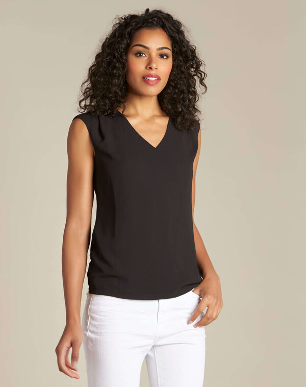 Neptune V-neck black T-shirt (2) - 1-2-3
