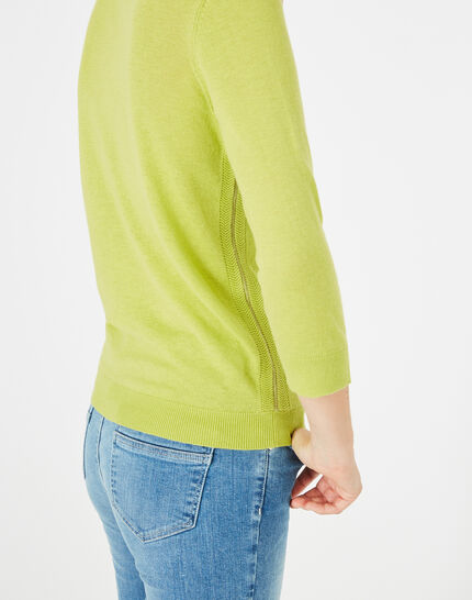 Pétillant aniseed sweater with metallic threading (4) - 1-2-3