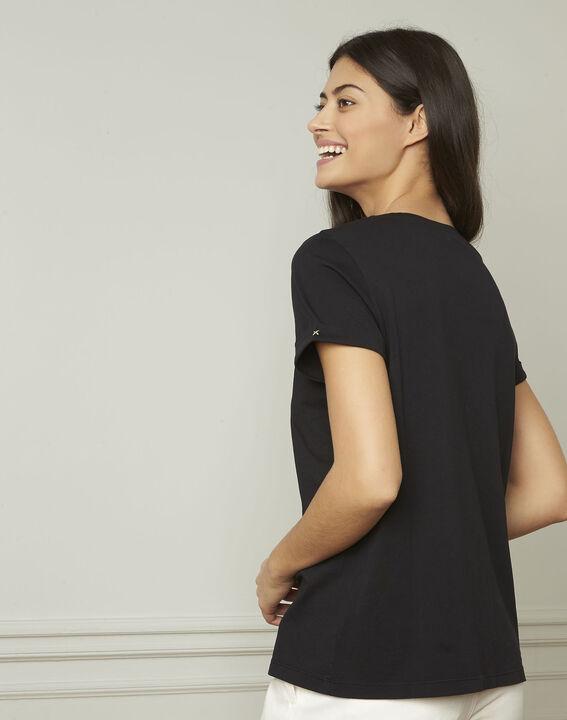 Gala black screen-printed T-shirt (3) - 1-2-3