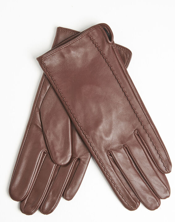 Ulrick brown leather gloves (2) - 1-2-3