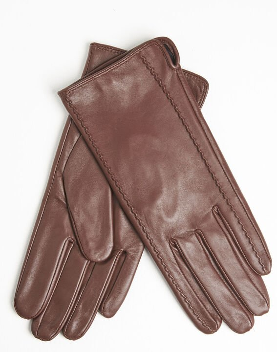 Ulrick brown leather gloves PhotoZ | 1-2-3