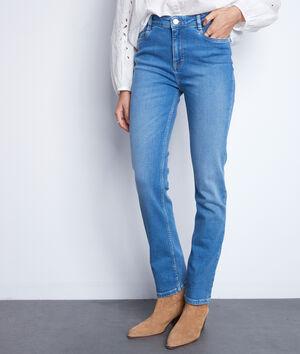 Straight-fit jeans van biologisch en recycled stone used katoen Sonia