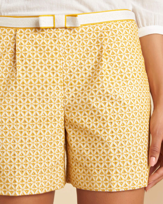 Subtil yellow embroidered shorts (2) - 1-2-3