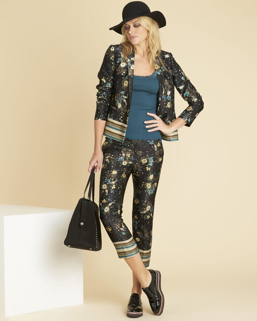 Demoiselle black jacket with floral print (1) - 1-2-3