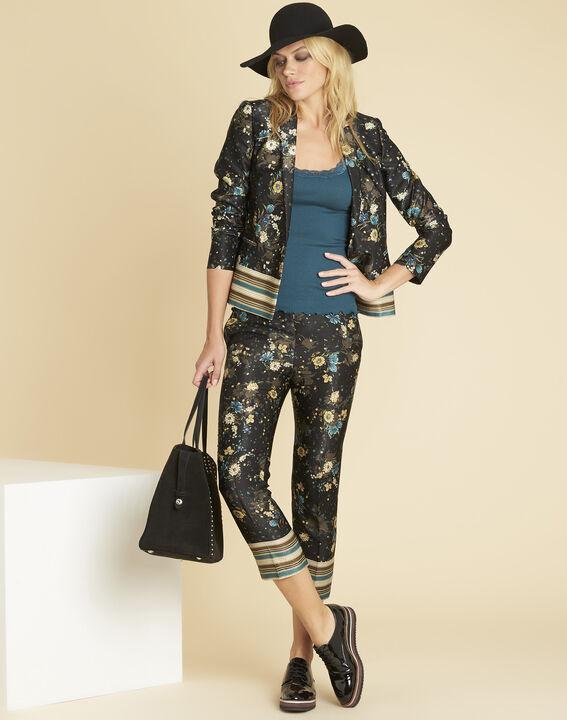 Demoiselle black jacket with floral print (2) - 1-2-3