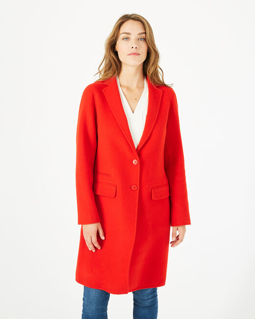 Jack mid-length red wool blend coat (1) - 1-2-3