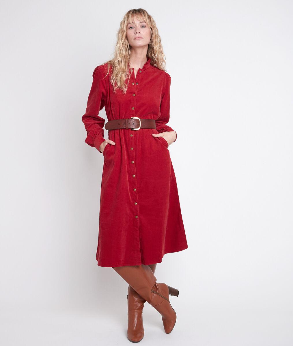 Robe rouge en velours Laura PhotoZ | 1-2-3