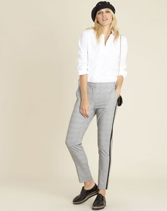 Cyrielle white poplin shirt white.