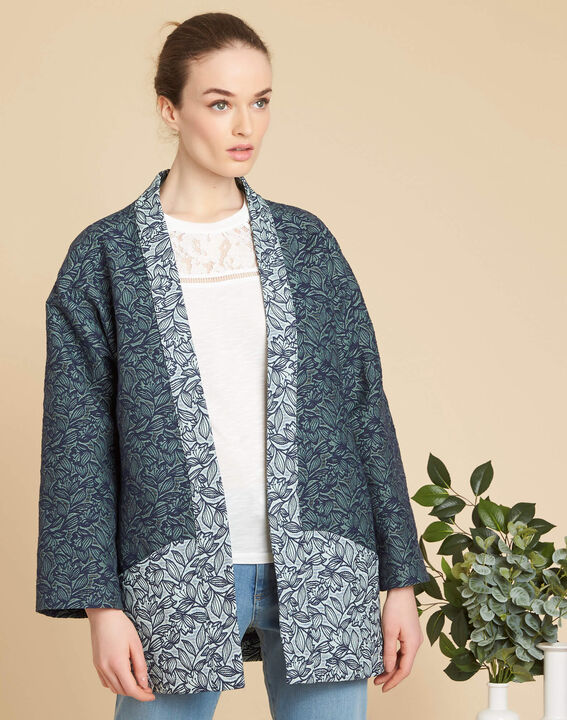 Cassa textured jacket with print (3) - 1-2-3