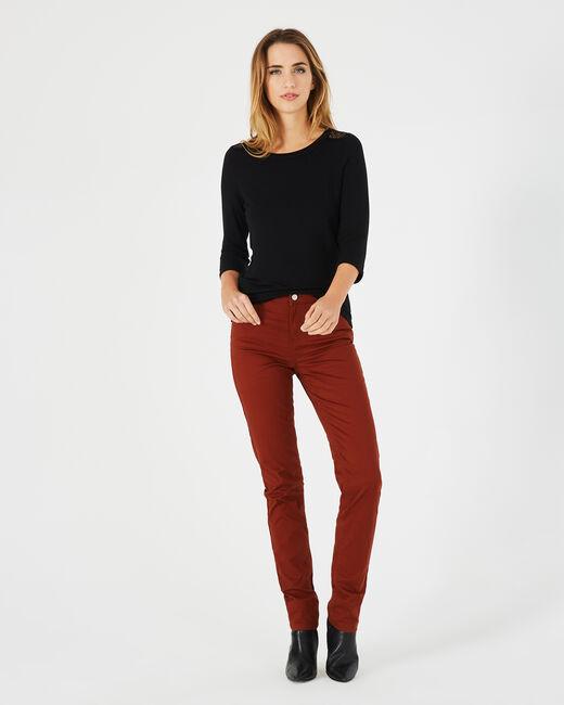 Tee-shirt noir dentelle et guipure Banco (1) - 1-2-3