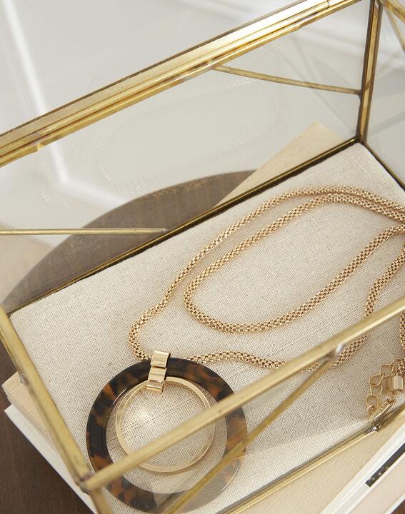 Sautoir doré pendentif écaille Tournesol (3) - Maison 123