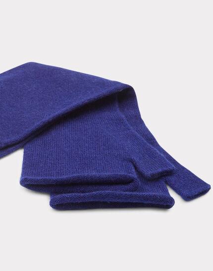 Blaue Kaschmir-Halbhandschuhe Trèfle (2) - 1-2-3