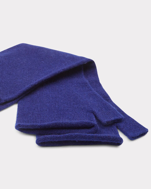 Mitaines bleues en cachemire Trèfle (2) - 1-2-3