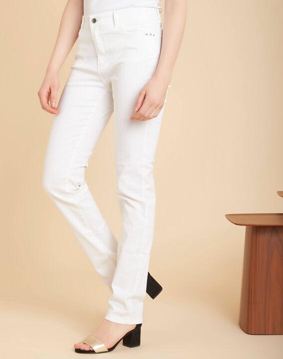 Weiße Slim-Fit-Jeans mit normaler Leibhöhe Valley (3) - 1-2-3
