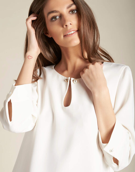 Gerry ecru blouse with jewelled detailing PhotoZ   1-2-3
