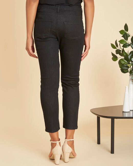 Turenne 7/8 length black slim-cut jeans (2) - 1-2-3