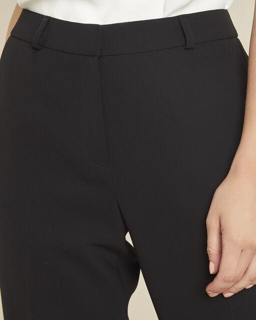 Pantalon noir large 7/8 en microfibre Hermane (2) - 1-2-3