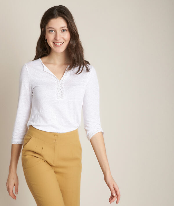 Tee-shirt en lin blanc Rizière PhotoZ | 1-2-3