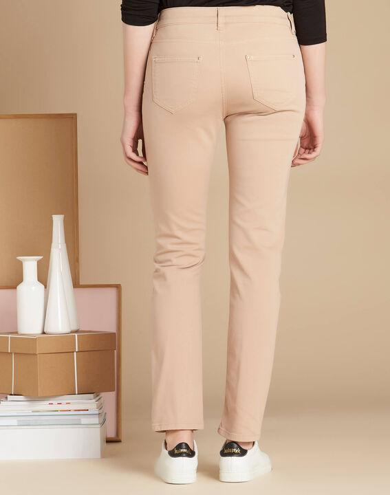 Vendôme 7/8 length beige slim-cut jeans (4) - 1-2-3